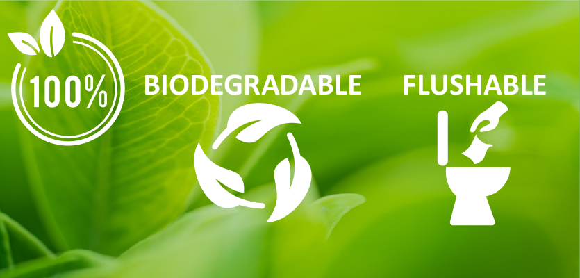 New Biodegradable-Flushable wipes