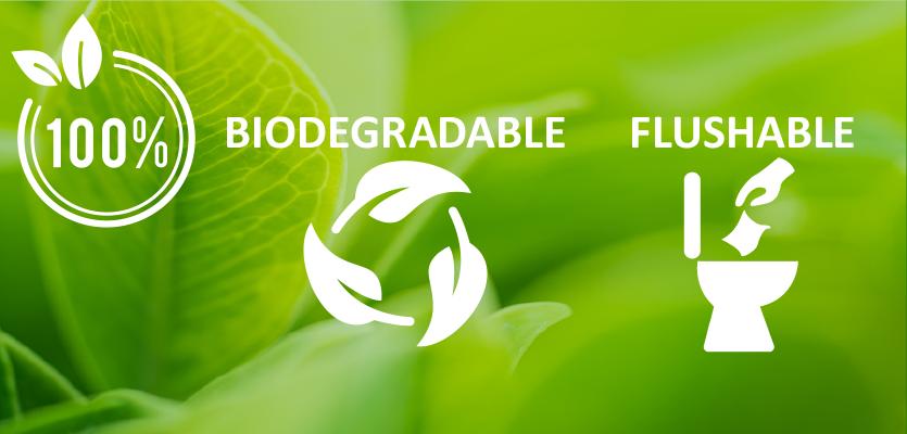 New Biodegradable-Flushable wipes